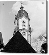 Mittenwald Kirchturm Acrylic Print