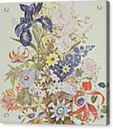 Mixed Flowers In A Cornucopia Acrylic Print