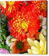 Mixed Flowers Acrylic Print