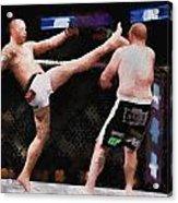 Mixed Martial Arts - A Kick To The Head Acrylic Print