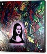 Mixed Media Abstract Post Modern Art By Alfredo Garcia Mona Lisa 2 Acrylic Print