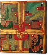 Mixed Media Abstract Post Modern Art By Alfredo Garcia The Blond Bombshell 3 Acrylic Print