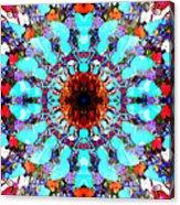 Mixed Media Mandala 1 Acrylic Print