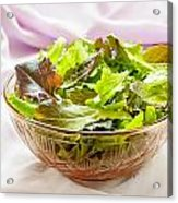 Mixed Salad On Table Acrylic Print