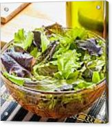 Mixed Salad With Condiments Acrylic Print