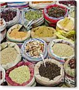 Mixed Spices In Market Of Cairo Egypt Acrylic Print