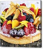 Mixed Tropical Fruit Tart Acrylic Print
