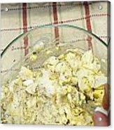 Mixing Egg Salad Ingredients Acrylic Print