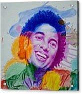 Mj Color Splatter Acrylic Print by Sruthi Murali