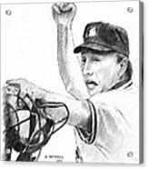 Mlb Umpire  Phil Cuzzi Acrylic Print