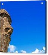 Moai And Blue Sky Acrylic Print