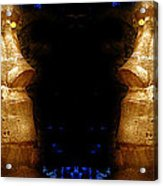 Moai Gold Acrylic Print