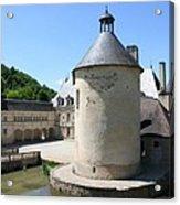 Moated Castle - Bussy Rabutin - Burgundy Acrylic Print