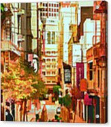 Mocca On Maiden Lane Acrylic Print by Bill Gallagher