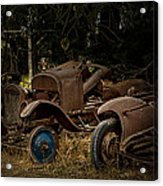 Model A Bodies And One Blue Wheel Acrylic Print