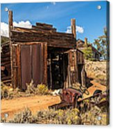 Model A Truck With Garage And House Acrylic Print