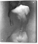 Model Against The Dark Background 2002 Acrylic Print