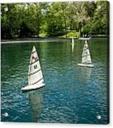 Model Boats On Conservatory Water Central Park Acrylic Print