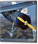 Model Planes Top Wing 04 Acrylic Print