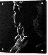 Model Portrait Acrylic Print
