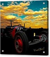 Model T Rat Rod Ride Cruisin Out At Sunset Acrylic Print