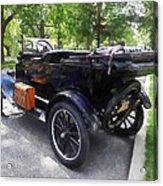 Model T With Luggage Rack Acrylic Print