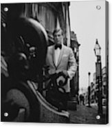 Model Wearing A Formal Craft Suit Acrylic Print