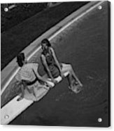 Models On A Diving Board Acrylic Print