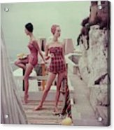 Models Wearing Bathing Suits In Palermo Acrylic Print