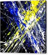 Modern Abstract Painting Original Canvas Art Atoms By Zee Clark Acrylic Print