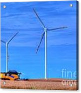 Modern Agriculture And Wind Turbines Acrylic Print