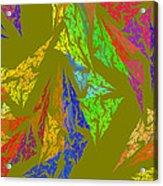 Modern Art Abstract Fractal Green Background Acrylic Print