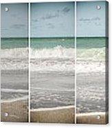 Modern Beach Tryptych Acrylic Print