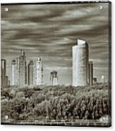 Modern Buenos Aires Black And White Acrylic Print