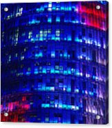 Modern Building At Night Acrylic Print