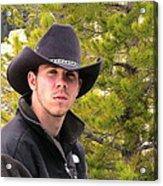 Modern Day Cowboy Acrylic Print
