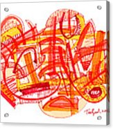 Modern Drawing Eighty-six Acrylic Print