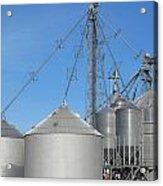 Modern Farm Storage And Towers Acrylic Print