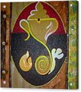 Mixed Media Ganesha Acrylic Print