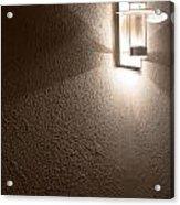 Modern Lamp On Concrete Wall Acrylic Print