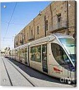 Modern Tram In Jerusalem Israel Acrylic Print