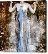 Modern Vintage Lady In Blue Acrylic Print