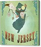 Modern Vintage New Jersey State Map  Acrylic Print