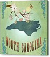 Modern Vintage North Carolina State Map  Acrylic Print