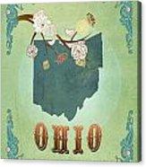Modern Vintage Ohio State Map  Acrylic Print