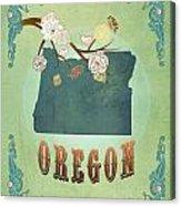 Modern Vintage Oregon State Map  Acrylic Print