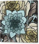 Modern Water Lily Acrylic Print