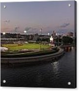Modern Woodmen Ball Park At Night. Acrylic Print