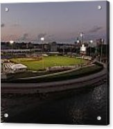 Modern Woodmen Park At Night Acrylic Print