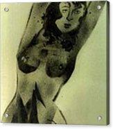 Modest Pose Acrylic Print
